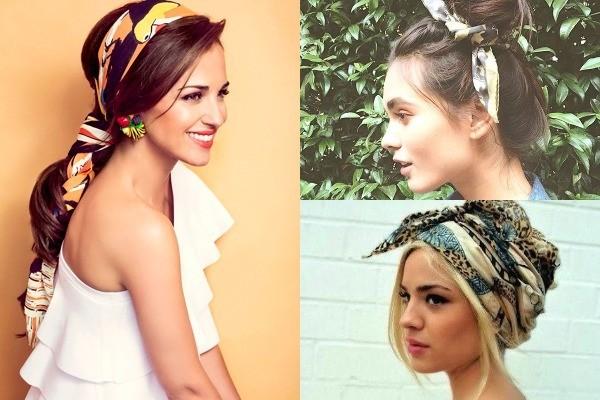 Cómo conseguir un peinados con pañuelos Colección De Cortes De Pelo Consejos - ¿Peinados sexys? Lógralos con estos accesorios - Let's ...