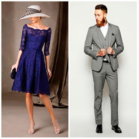 Look vestido largo azul marino