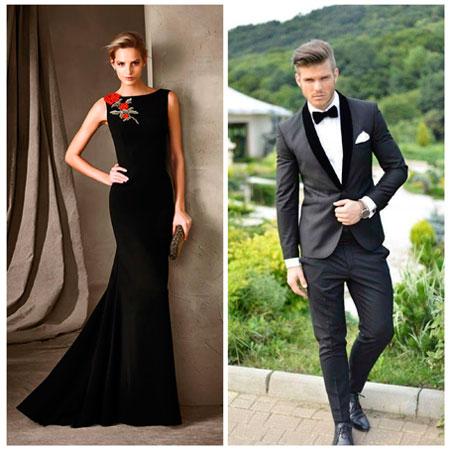Vestido negro para boda en la playa